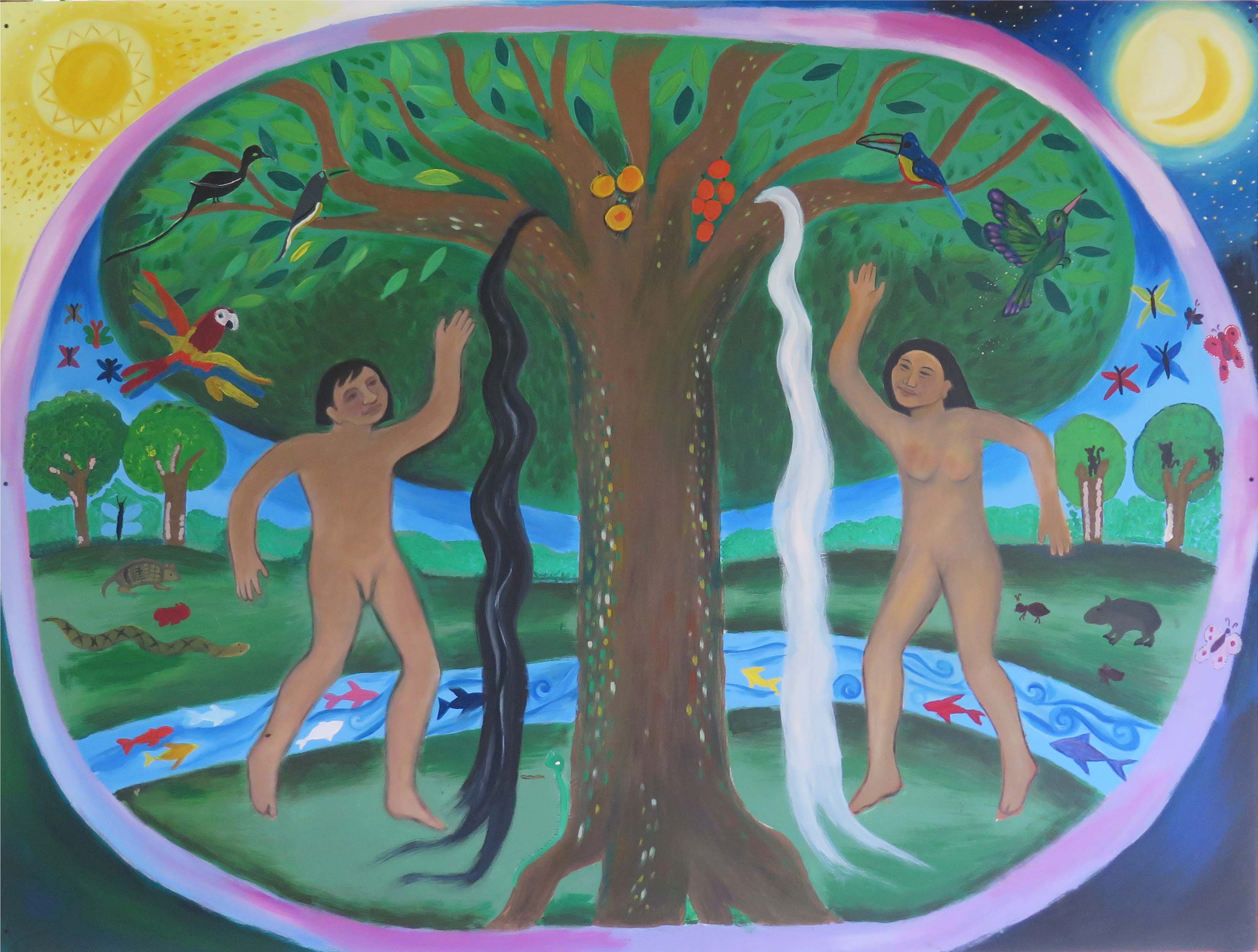Mural colectivo comunidad awa putumayo