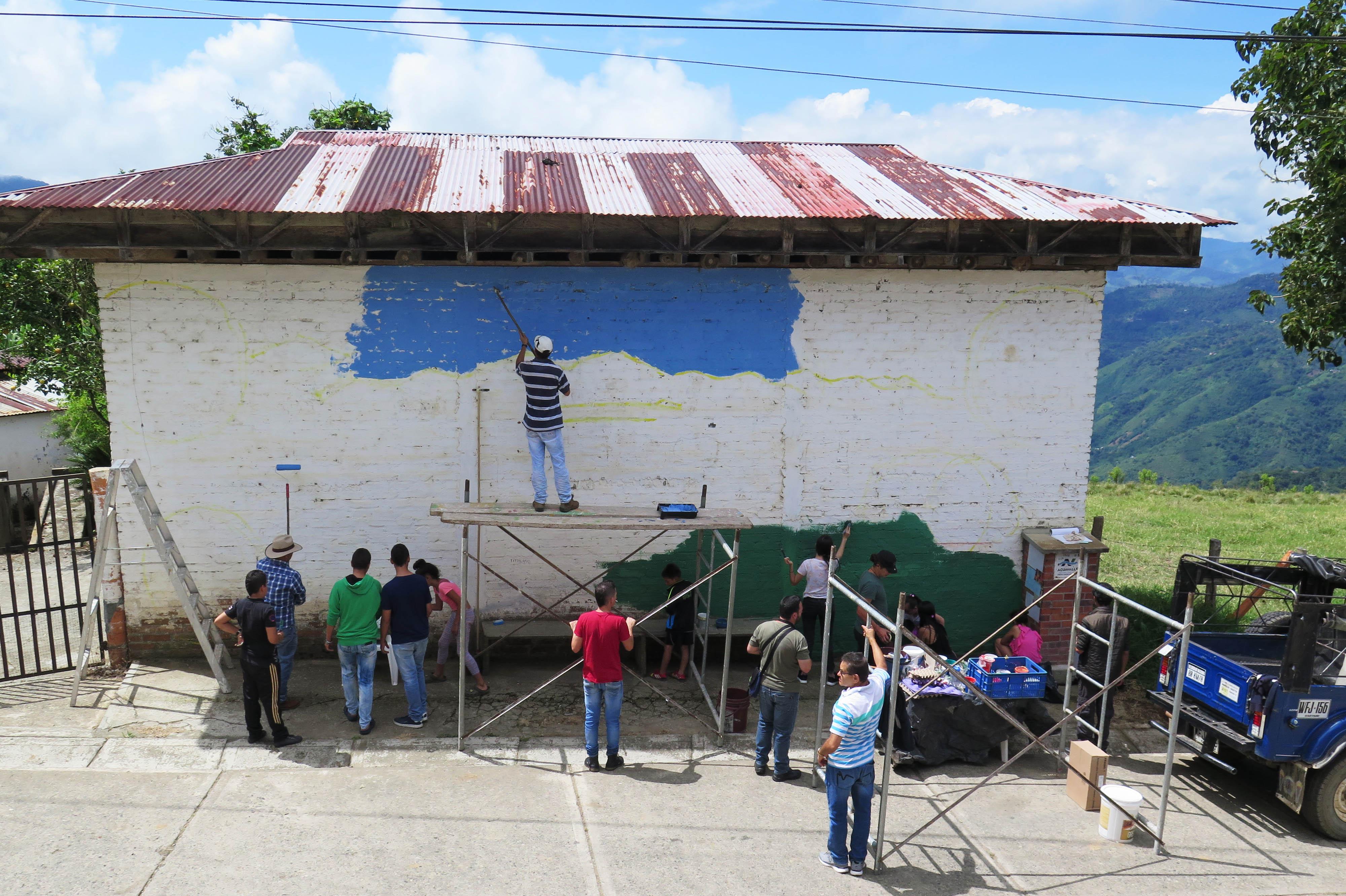 Mural colectivo el cairo